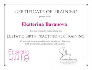 Ecstatic Birth Practitioner Training Certificate