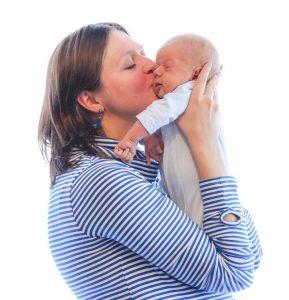 Ekaterina Baranova con su hijo Rafael