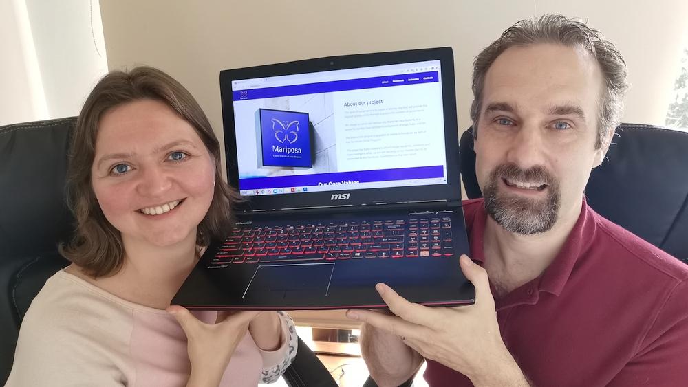 Daniel y Katerina Morin y sitio web del Proyecto Mariposa
